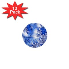 Special Fractal 17 Blue 1  Mini Buttons (10 Pack)
