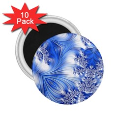 Special Fractal 17 Blue 2 25  Magnets (10 Pack)