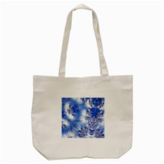 Special Fractal 17 Blue Tote Bag (Cream)