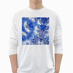Special Fractal 17 Blue White Long Sleeve T-Shirts