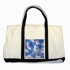 Special Fractal 17 Blue Two Tone Tote Bag