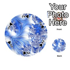 Special Fractal 17 Blue Playing Cards 54 (Round)