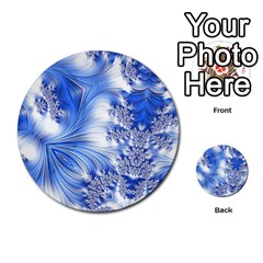 Special Fractal 17 Blue Multi-purpose Cards (Round)