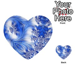 Special Fractal 17 Blue Multi-purpose Cards (Heart)