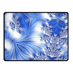Special Fractal 17 Blue Fleece Blanket (Small)