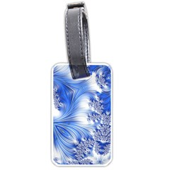 Special Fractal 17 Blue Luggage Tags (two Sides)