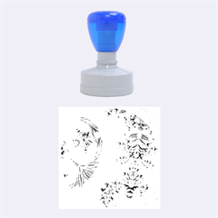 Special Fractal 17 Blue Rubber Round Stamps (medium)