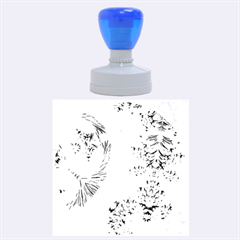 Special Fractal 17 Blue Rubber Round Stamps (Large)
