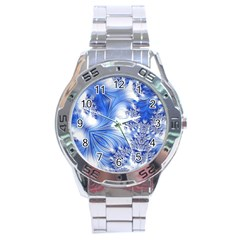 Special Fractal 17 Blue Stainless Steel Men s Watch