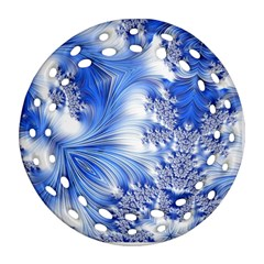 Special Fractal 17 Blue Ornament (Round Filigree)