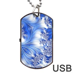 Special Fractal 17 Blue Dog Tag Usb Flash (two Sides)