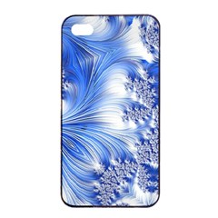 Special Fractal 17 Blue Apple iPhone 4/4s Seamless Case (Black)