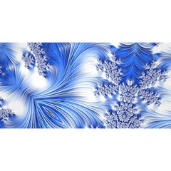 Special Fractal 17 Blue YOU ARE INVITED 3D Greeting Card (8x4)