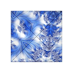 Special Fractal 17 Blue Acrylic Tangram Puzzle (4  x 4 )