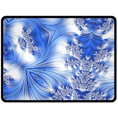 Special Fractal 17 Blue Double Sided Fleece Blanket (Large)