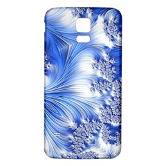 Special Fractal 17 Blue Samsung Galaxy S5 Back Case (white)
