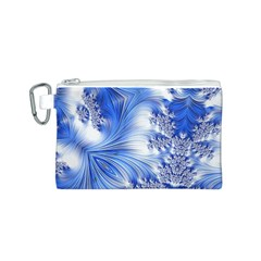 Special Fractal 17 Blue Canvas Cosmetic Bag (S)