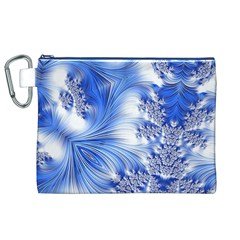Special Fractal 17 Blue Canvas Cosmetic Bag (xl)