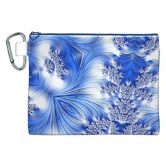 Special Fractal 17 Blue Canvas Cosmetic Bag (XXL)
