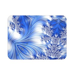 Special Fractal 17 Blue Double Sided Flano Blanket (Mini)