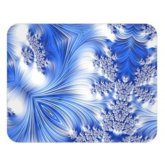 Special Fractal 17 Blue Double Sided Flano Blanket (large)