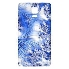 Special Fractal 17 Blue Galaxy Note 4 Back Case