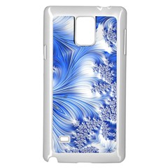 Special Fractal 17 Blue Samsung Galaxy Note 4 Case (white)