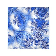 Special Fractal 17 Blue Small Satin Scarf (Square)