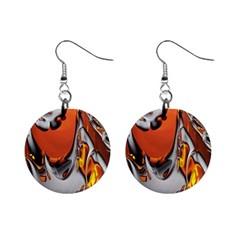 Special Fractal 24 Terra Mini Button Earrings