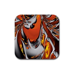 Special Fractal 24 Terra Rubber Coaster (square)