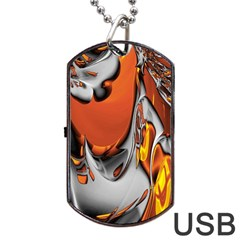 Special Fractal 24 Terra Dog Tag USB Flash (Two Sides)