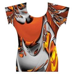Special Fractal 24 Terra Women s Cap Sleeve Top