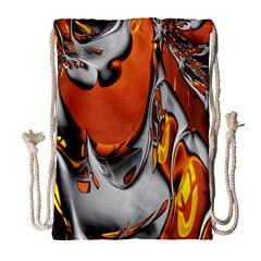 Special Fractal 24 Terra Drawstring Bag (large)