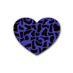 Purple Holes Heart Coaster (4 Pack)