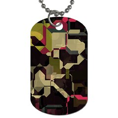 Techno Puzzle Dog Tag (one Side)