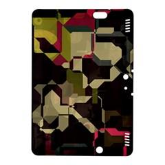 Techno Puzzle Kindle Fire Hdx 8 9  Hardshell Case