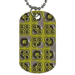 Plastic Shapes Pattern Dog Tag (two Sides)