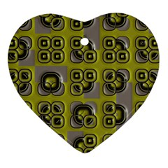 Plastic Shapes Pattern Heart Ornament (two Sides)