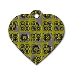 Plastic Shapes Pattern Dog Tag Heart (one Side)