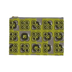 Plastic Shapes Pattern Cosmetic Bag (large)