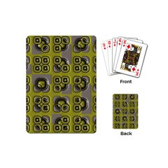 Plastic Shapes Pattern Playing Cards (mini)