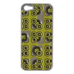 Plastic Shapes Pattern Apple Iphone 5 Case (silver)
