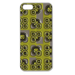 Plastic Shapes Pattern Apple Seamless Iphone 5 Case (clear)