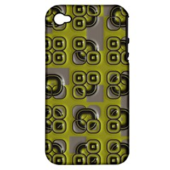 Plastic Shapes Pattern Apple Iphone 4/4s Hardshell Case (pc+silicone)