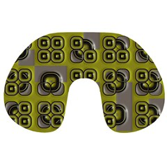 Plastic Shapes Pattern Travel Neck Pillow