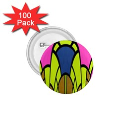 Distorted Symmetrical Shapes 1 75  Button (100 Pack)