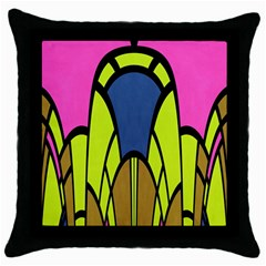 Distorted Symmetrical Shapes Throw Pillow Case (black)