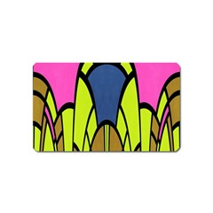 Distorted Symmetrical Shapes Magnet (name Card)