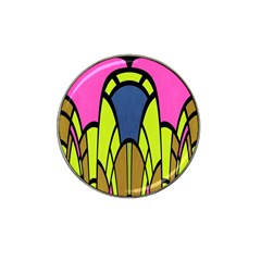 Distorted Symmetrical Shapes Hat Clip Ball Marker (4 Pack)