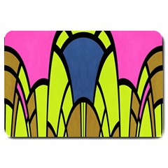 Distorted Symmetrical Shapes Large Doormat